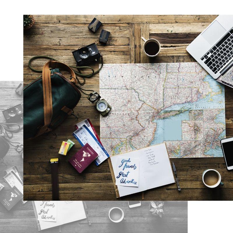Mapa para planificar viaje